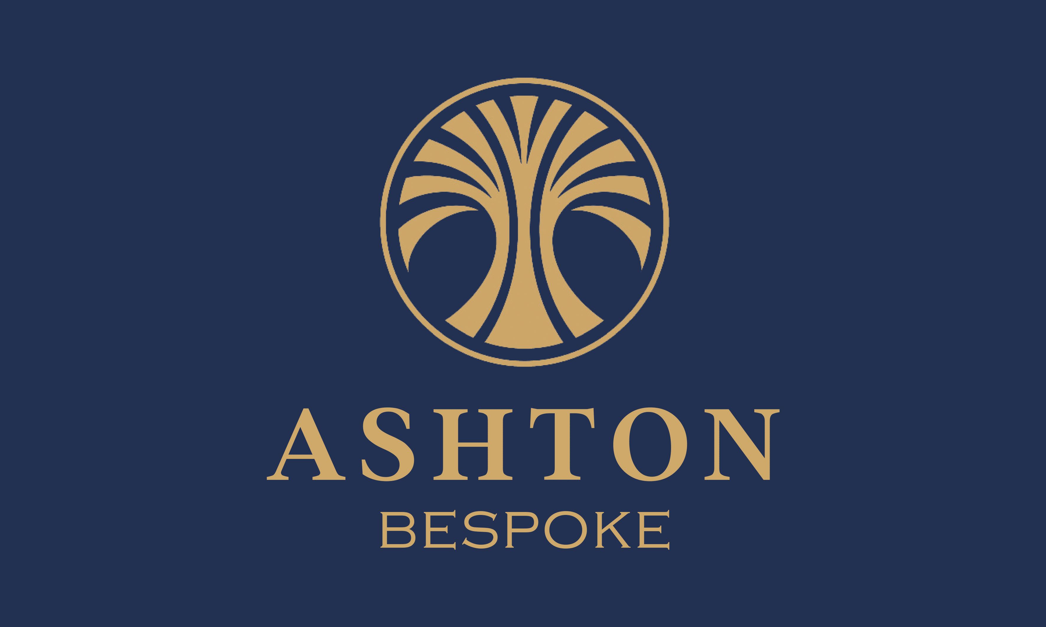 Ashton Bespoke Gold/Blue Logo